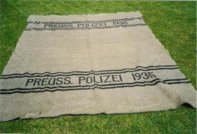 Preuss. Polizei 1935 - Flanelldecke