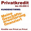 Privatgeld für Selbständige - Kreditprojekt gratis einstellen