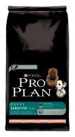 Pro Plan Dog Puppy Sensitive Lachs und Reis 14kg Hundefutter von Purina