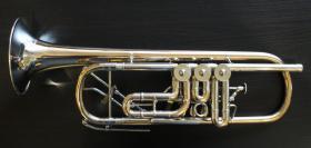 Foto 5 Profiklasse Konzert - Trompete A. Wolfram Markneukirchen, Goldmessing mit 2 Überblasklappen