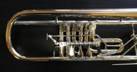 Foto 9 Profiklasse Konzert - Trompete A. Wolfram Markneukirchen, Goldmessing mit 2 Überblasklappen
