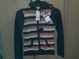 Pullover braun orange größe M