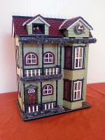 Puppenhaus aufklappbar Spieluhr