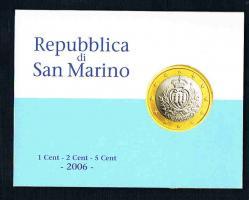 REPUBBLICA di SAN MARINO 1 Eurocent - 2 Eurocent - 5 Eurocent -  2006 -  Prägefrisch im Blister .