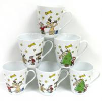 RITZENHOFF & BREKER Crazy Santa Claus Porzellan-Kaffeebecher