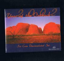 ROYAL AUSTRALIAN MINT Six Coin Uncirculated Set 2002 Bankfrisch Prägefrisch .