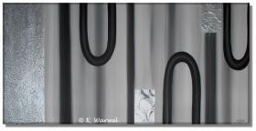 Foto 3 Reflexion - Acrylgemälde Acryl Bild - 50x100cm