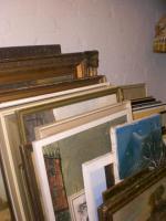 Foto 2 Requisiten/Ölbilder/Überseekoffer, Kleinmöbel, Kronleuchter milit Deko