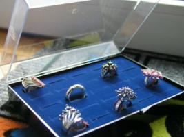 Ringbox für 25-100 Ringe, Ring Box, Ringkasten, Ringetui