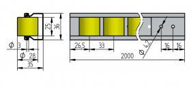 Röllchenleiste Typ 726