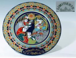 Rosenthal Weihnachtsteller 1977 Anbetung der Hirten