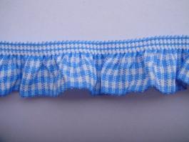Rüschengummi, Vichykaro, Polyester, versch. Farben, 1-seitig