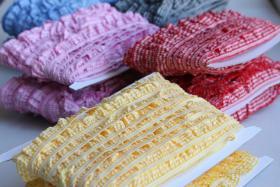 Foto 3 Rüschengummi, Vichykaro, Polyester, versch. Farben, 1-seitig
