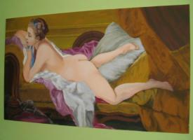 Foto 4 Ruhendes Mädchen (Gemälde)