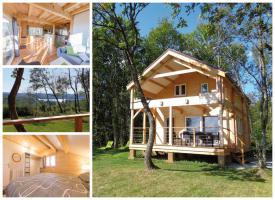 Ruhiges Holzhaus Natur pur ohne Nachbar, Fischteich