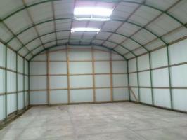 Foto 2 Runddachhalle Rundbogenhalle Stahlhalle Stahlkonstruktion Garage