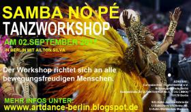 Foto 6 SAMBA NO PE TANZWORKSHOPS IN BERLIN AM 08. JUNII 2019