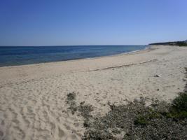 Strand direkt vor der Villa