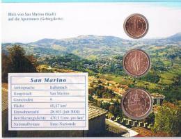 Foto 2 San Marino 1,2, und 5 Euro Cent im Folder ! !