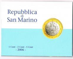 Foto 3 San Marino 1,2, und 5 Euro Cent im Folder ! !