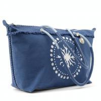 Sanddollar Beach Bag XXL 'Silver Coral Ocean Blue' Sonderangebot 111,20 €