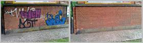 Foto 5 Sandstrahlen-Graffitientfernung