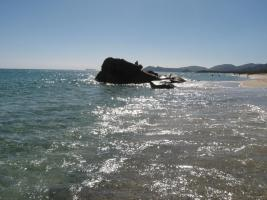 Foto 8 Sardinien  Ferienwohnung  TOP B&B Costa Rei  Fruehstueck unter Palmen