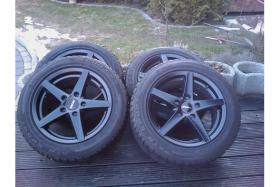 Foto 2 Satz Alufelgen + Reifen Komplettsatz neuwertig schwarz / matt