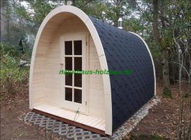 Foto 2 Sauna Pod und Camping Pod in massiver 58 mm Premium Wandstärke, viele Größen und Ausführungen, ..