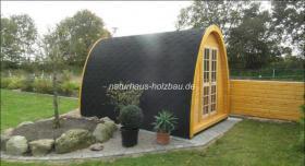 Foto 3 Sauna Pod und Camping Pod in massiver 58 mm Premium Wandstärke, viele Größen und Ausführungen, ..