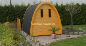 Foto 4 Sauna Pod und Camping Pod in massiver 58 mm Premium Wandstärke, viele Größen und Ausführungen, ..