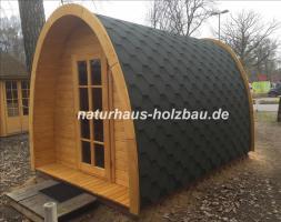 Foto 5 Sauna Pod und Camping Pod in massiver 58 mm Premium Wandstärke, viele Größen und Ausführungen, ..