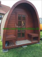 Foto 7 Sauna Pod und Camping Pod in massiver 58 mm Premium Wandstärke, viele Größen und Ausführungen, ..