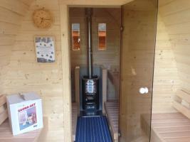 Foto 8 Sauna Pod und Camping Pod in massiver 58 mm Premium Wandstärke, viele Größen und Ausführungen, ..