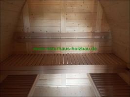 Foto 11 Sauna Pod und Camping Pod in massiver 58 mm Premium Wandstärke, viele Größen und Ausführungen, ..