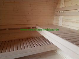 Foto 12 Sauna Pod und Camping Pod in massiver 58 mm Premium Wandstärke, viele Größen und Ausführungen, ..