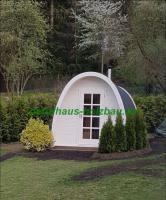 Foto 13 Sauna Pod und Camping Pod in massiver 58 mm Premium Wandstärke, viele Größen und Ausführungen, ..