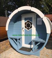Foto 18 Sauna Pod und Camping Pod in massiver 58 mm Premium Wandstärke, viele Größen und Ausführungen, ..