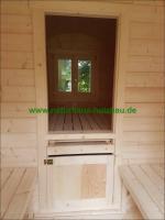 Foto 19 Sauna Pod und Camping Pod in massiver 58 mm Premium Wandstärke, viele Größen und Ausführungen, ..