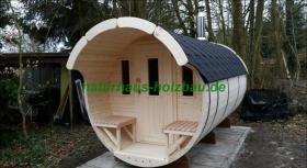 Foto 25 Sauna Pod und Camping Pod in massiver 58 mm Premium Wandstärke, viele Größen und Ausführungen, ..
