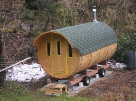 Foto 26 Sauna Pod und Camping Pod in massiver 58 mm Premium Wandstärke, viele Größen und Ausführungen, ..