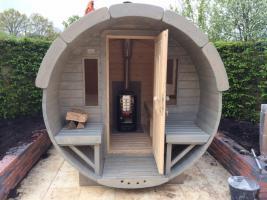 Foto 27 Sauna Pod und Camping Pod in massiver 58 mm Premium Wandstärke, viele Größen und Ausführungen, ..