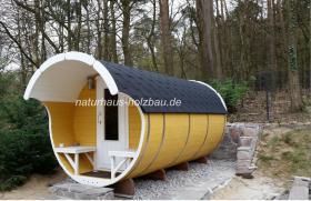 Foto 28 Sauna Pod und Camping Pod in massiver 58 mm Premium Wandstärke, viele Größen und Ausführungen, ..