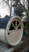 Foto 8 Sauna Pod, Saunapod, Fasssauna, Saunafass, Gartensauna, Saunakota, Saunahaus, Saunablockhaus, ..