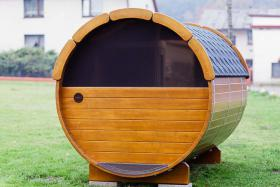 Foto 21 Sauna Pod, Saunapod, Fasssauna, Saunafass, Gartensauna, Saunakota, Saunahaus, Saunablockhaus, ..