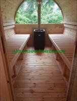 Foto 24 Sauna Pod, Saunapod, Fasssauna, Saunafass, Gartensauna, Saunakota, Saunahaus, Saunablockhaus, ..