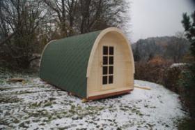 Foto 7 Sauna Pod, Schlaf Pod, Schlaffass in massiver 58 mm Premium Wandstärke