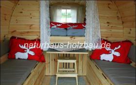 Foto 10 Sauna Pod, Schlaf Pod, Schlaffass in massiver 58 mm Premium Wandstärke