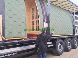 Foto 12 Sauna Pod, Schlaf Pod, Schlaffass in massiver 58 mm Premium Wandstärke