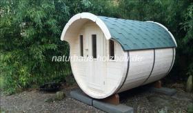 Foto 19 Sauna Pod, Schlaf Pod, Schlaffass in massiver 58 mm Premium Wandstärke